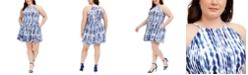 Vince Camuto Plus Size Fit & Flare Halter Dress