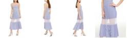 A|X Armani Exchange Striped Pleated Dress