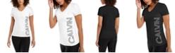 Calvin Klein Outline-Logo V-Neck T-Shirt