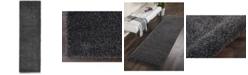 "Long Street Looms Cali Shag CAL01 Charcoal 2'2"" x 7'6"" Runner Rug"