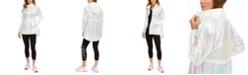 Calvin Klein Iridescent High-Low Hooded Jacket