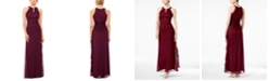 Betsy & Adam B&A by Betsy and Adam Ruched Halter Gown