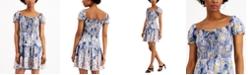 City Studios Juniors' Tiered Floral-Print Dress