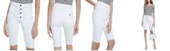 GUESS Button-Fly Denim Bermuda Shorts