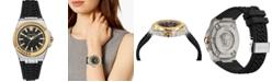 Versace Women's Swiss Chain Reaction Black Silicone Strap Watch 40mm