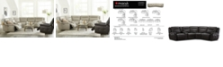 Furniture Lenardo Leather Sectional and Power Motion Recliner Collection, Created for Macy's