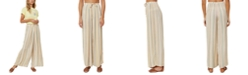 O'Neill Juniors' Anthia Striped Wide-Leg Pants