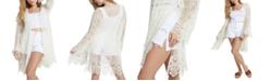 GUESS Lilja Crocheted Open-Front Cardigan