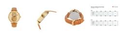 Tommy Bahama Women's Shaken Crystal Pineapple Brown Leather Strap Watch, 38mm