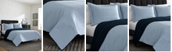 Kenneth Cole Reaction CLOSEOUT! Irregular Channel Stitch Reversible Quilt Set, Twin