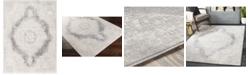 "Abbie & Allie Rugs Roma ROM-2312 Silver 6'7"" x 9' Area Rug"