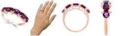 LALI Jewels Multi-Gemstone (2-1/4 ct. t.w.) & Diamond (1/20 ct. t.w.) Ring in 14k Rose Gold