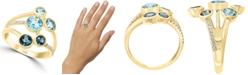 LALI Jewels Multi-Gemstone (2 ct. t.w.) & Diamond (1/10 ct. t.w.) Ring in 14k Gold