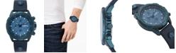 Versus by Versace Men's Chronograph 6E Arrondissement Blue Leather Strap Watch 46mm