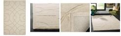 Martha Stewart Collection Fretwork MSR4612C Beige 4' x 4' Round Area Rug