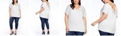 Black Tape Plus Size Strappy-Back T-Shirt