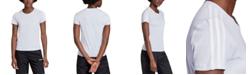 adidas Women's Essentials Cotton 3-Stripe T-Shirt