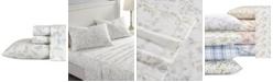 Laura Ashley Fawna Flannel Cotton Twin Sheet Set