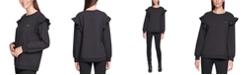 Calvin Klein Ruffle-Sleeve Sweatshirt