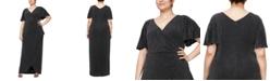 Alex Evenings Plus Size Metallic-Knit Gown