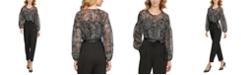 Calvin Klein Paisley-Print Chiffon Jumpsuit