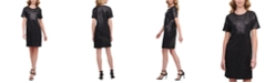 DKNY Sequined T-Shirt Dress