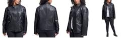 Kenneth Cole Plus Size Faux-Leather Jacket