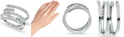 Giani Bernini Cubic Zirconia Five Row Wrap Ring in Sterling Silver, Created for Macy's