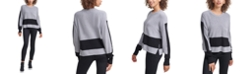 DKNY Jeans Cotton Colorblocked Sweater