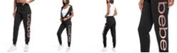 bebe Sport Women's Jumbo Logo Fleece Lined Joggers
