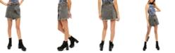 Free People Parker Wrap Denim Mini Skirt