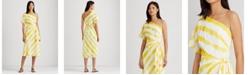 Lauren Ralph Lauren Crepe One-Shoulder Dress