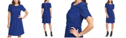 DKNY Ruched-Sleeve Dress