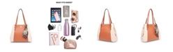 Anne Klein Colorblock 4 Poster Shoulder Bag with Detachable Scarf