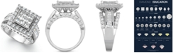 Macy's Diamond Square Engagement Ring in 14k White Gold (3 ct. t.w.)