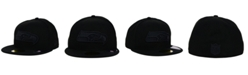New Era Seattle Seahawks Black on Black 59FIFTY Fitted Cap