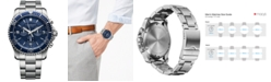 Victorinox Swiss Army Men's Chronograph Maverick Stainless Steel Bracelet Watch 43mm 241689