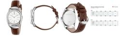 Gucci Women's Swiss Horsebit Camel-Color Leather Strap Watch 30mm YA140502
