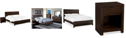 Furniture Tribeca 2-Piece Set, Created for Macy's,  (California King Bed and Nightstand)