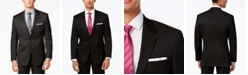 Alfani Men's Traveler Black Solid Big and Tall Classic-Fit Jacket, Created for Macy's
