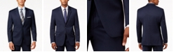 Alfani Men's Traveler Navy Solid Big and Tall Classic-Fit Jacket, Created for Macy's