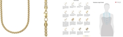 """Italian Gold Large Rounded Box-Link 22"""" Chain Necklace (3-3/8mm) in 14k Gold"""