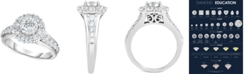 TruMiracle Diamond Bridal Engagement Ring (1-1/2 ct. t.w.) in 14k White Gold