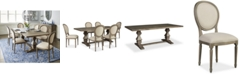 Furniture Tristan Trestle Dining Furniture, 7-Pc. Set (Trestle Dining Table & 6 Side Chairs), Created for Macy's