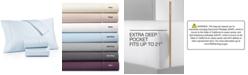 AQ Textiles Bergen 4-Pc. King Extra Deep Pocket Sheet Set, 1000 Thread Count 100% Certified Egyptian Cotton