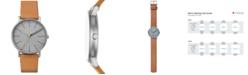 Skagen Men's Signatur Tan Leather Strap Watch 40mm SKW6373