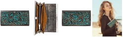 Patricia Nash Cauchy Turquoise Tooled Leather Wallet