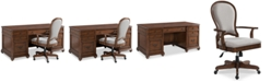 Furniture Clinton Hill Cherry Home Office Furniture, 2-Pc. Set (Executive Desk & Upholstered Desk Chair), Created for Macy's