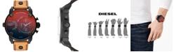 Diesel Men's Chronograph Little Daddy Brown Leather Strap Watch 52mm