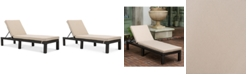 Noble House Logan Outdoor Chaise Lounge